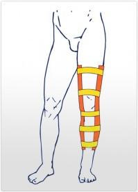 Orteza de genunchi fixa