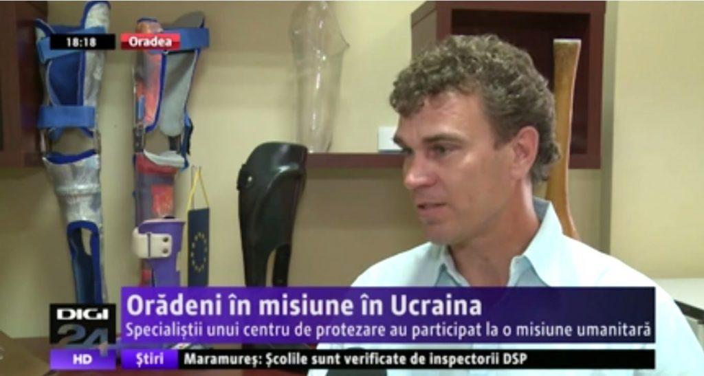 Specialisti in protezare in misiune umanitara in Ucraina