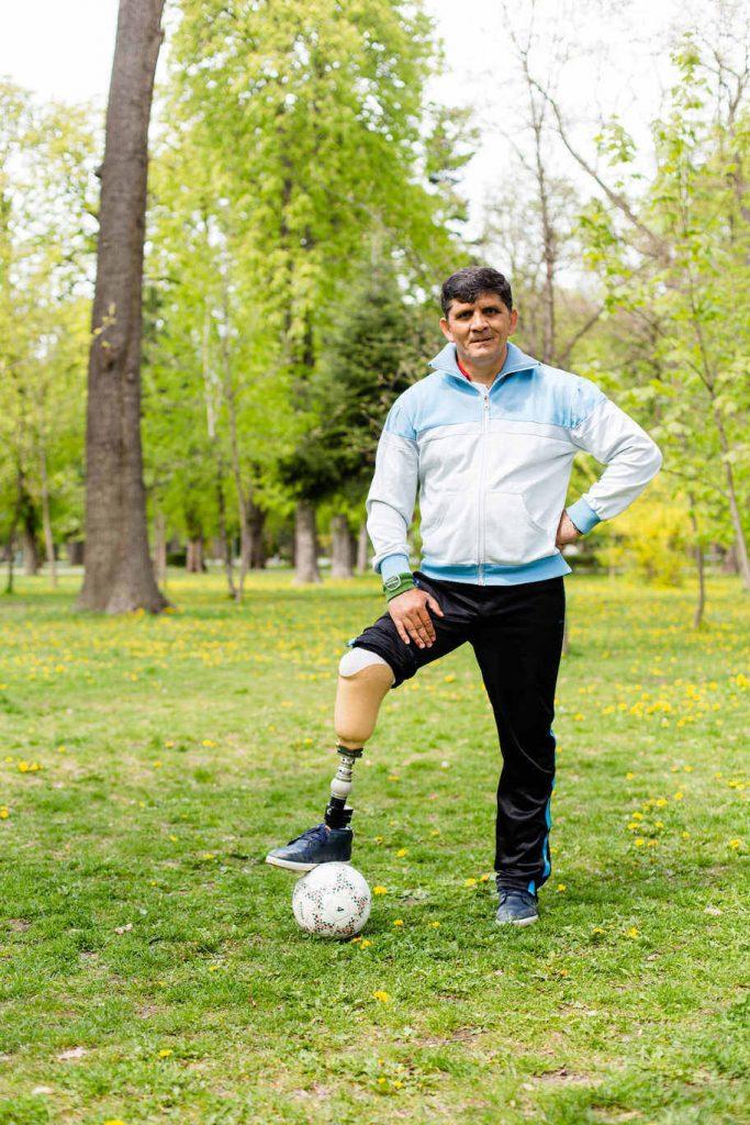 proteza de picior cu care poti juca fotbal