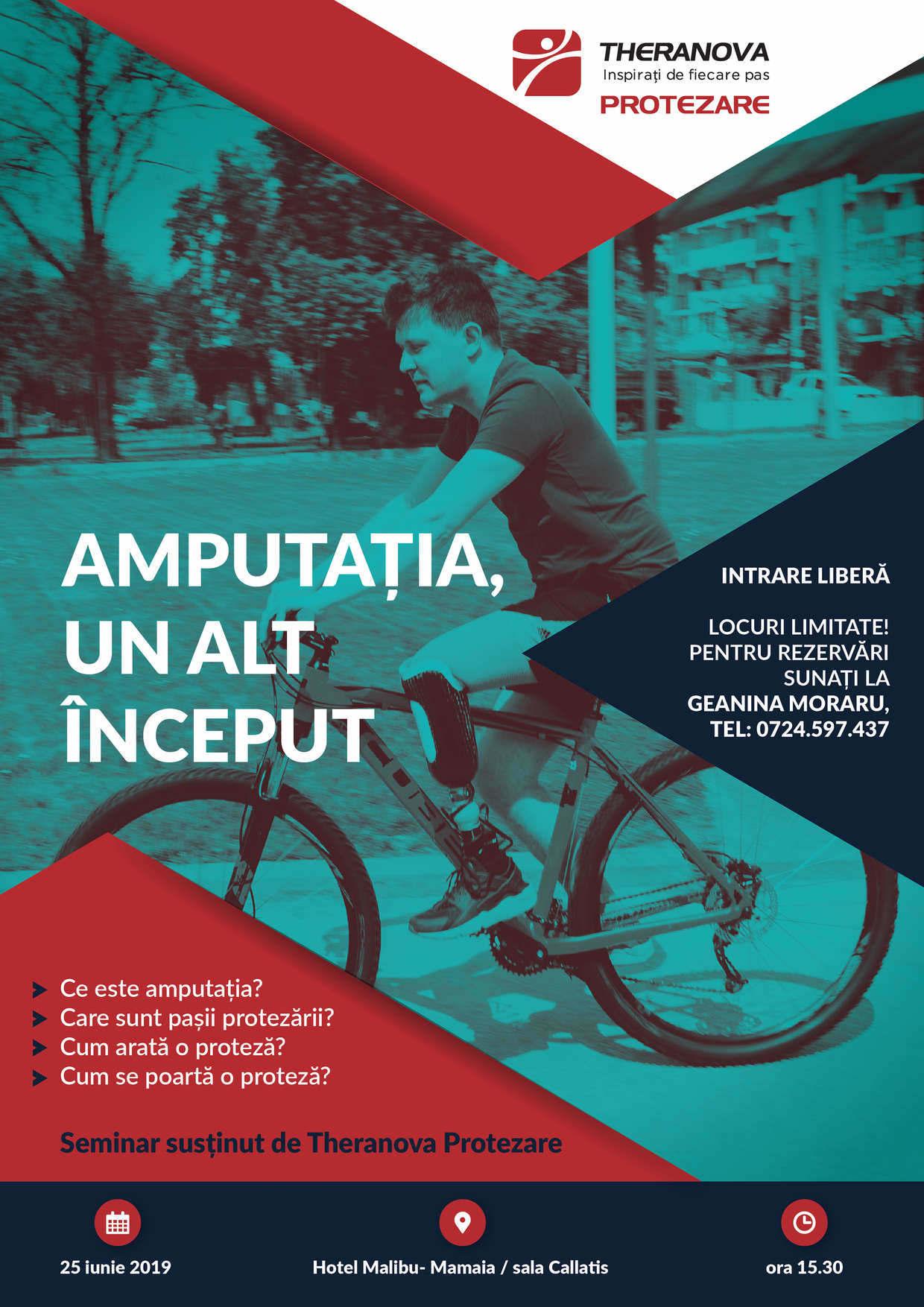 poster eveniment Amputatia, un nou inceput